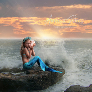 Mermaid digital background by Fairy Magic Chest