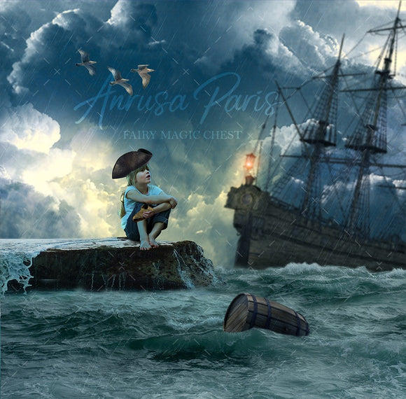 Digital background / backdrop for pirate , shipwreck