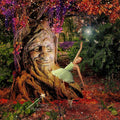 anrusa-paris-fairy-magic-chest - Digital background / backdrop , tree with face, smiling - Anrusa Paris & Fairy Magic Chest - digital background / backdrop
