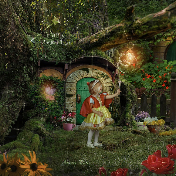 Digital background / backdrop fairy house