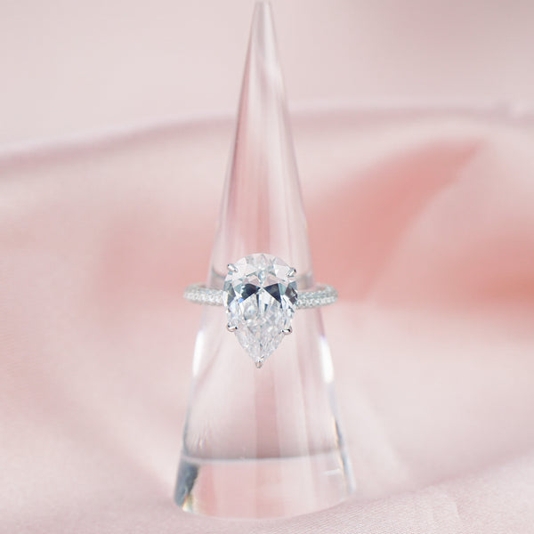 """So Beverly"" Tear Drop ring"