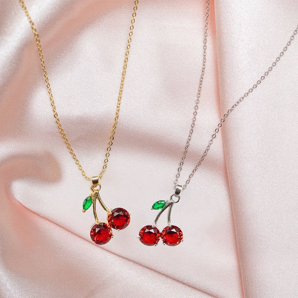 """Cherry on top"" necklace"