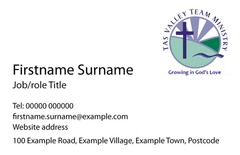 Business Cards for Clergy & Licensed Lay Ministers