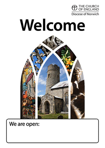 Welcome poster - White