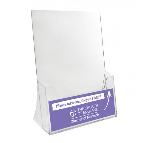 A5 leaflet/booklet holder
