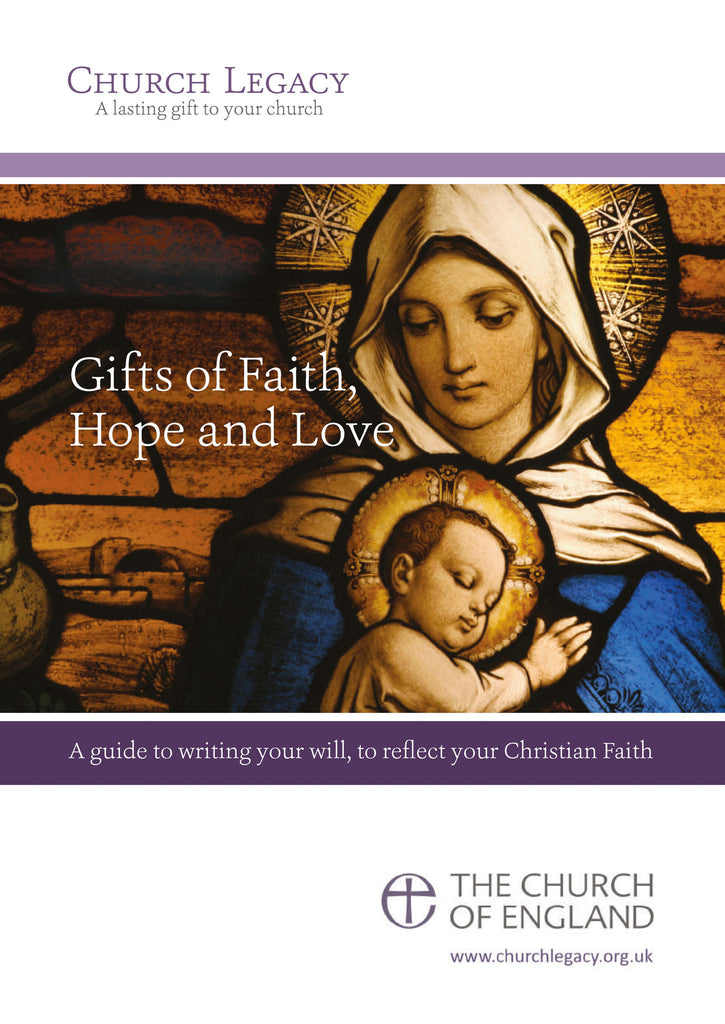 Legacy booklet: 'Gifts of Faith, Hope & Love'