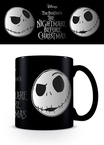 The Nightmare Before Christmas Jack Skeleton Face Foil Mug