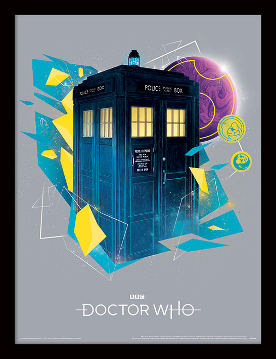 Doctor Who (Geometric Tardis) Framed 30 x 40cm Print
