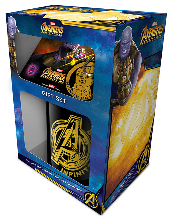 Avengers: Infinity War Mug, Coaster and Keychain Set