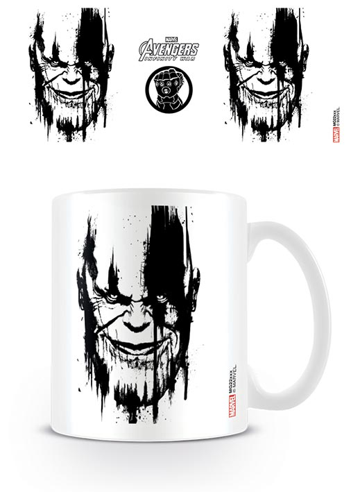 Avengers: Infinity War (Thanos - Stencil Drip Design) Coffee Mug