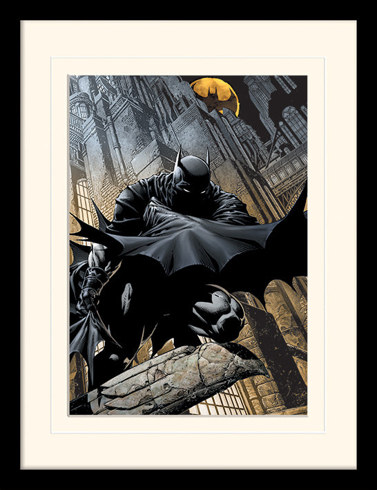 Batman (Night Watch)  Mounted & Framed 30 x 40cm Print