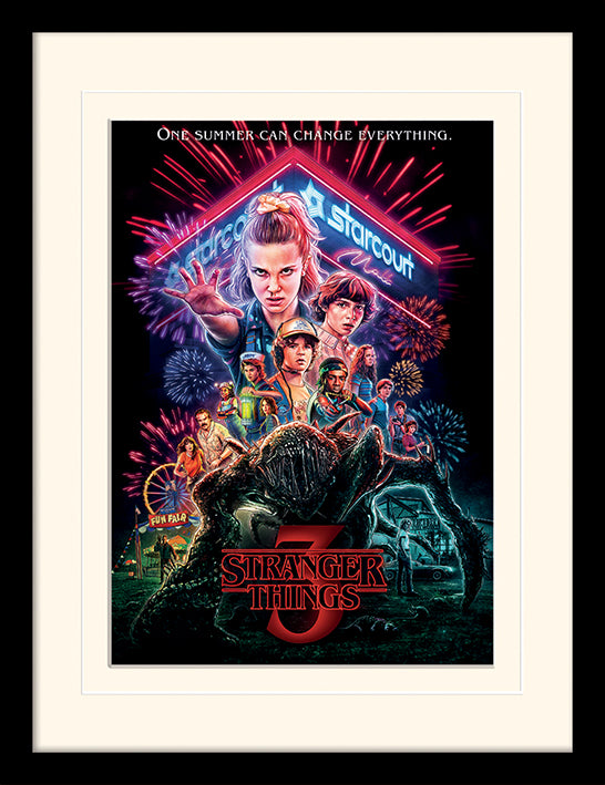 Stranger Things (Summer of 85) Mounted & Framed 30 x 40cm Print