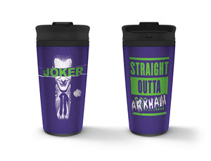 The Joker (Straight Outta Arkham) Metal Travel Mug