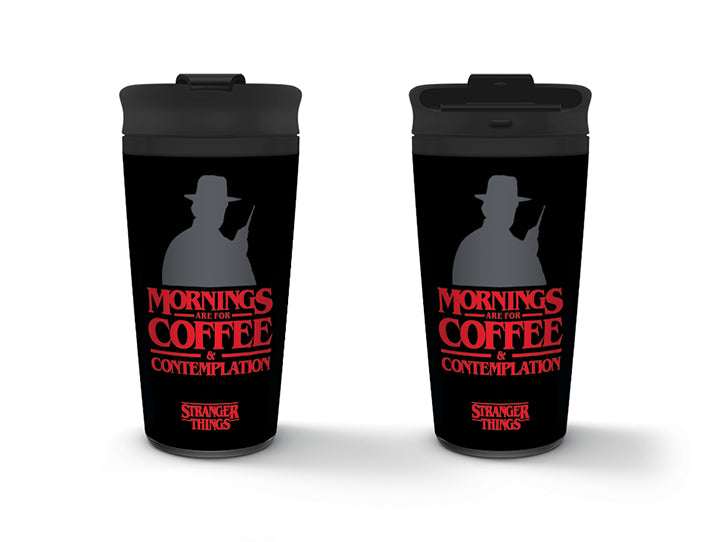 Stranger Things (Coffee and Contemplation) Metal Travel Mug