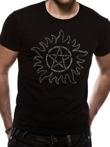 Supernatural (Anti Possession Tattoo Text Symbol) Unisex T-Shirt