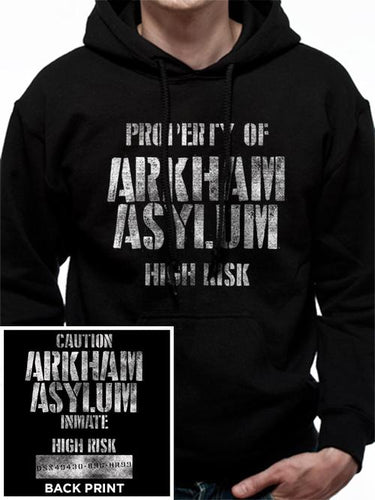 Batman Arkham Asylum Hooded Sweatshirt (With Backprint)