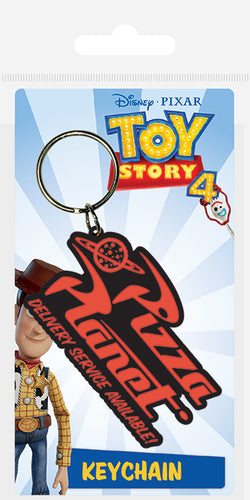 Toy Story 4 (Pizza Planet) Rubber Keychain