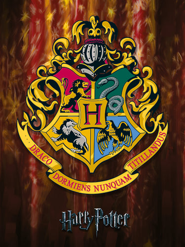 Harry Potter (Hogwarts School Crest) Canvas Print 30 x 40 cm