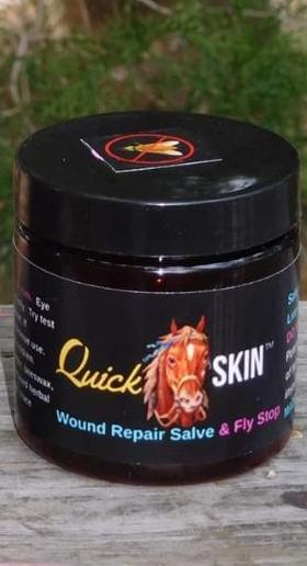Quick Skin Wound Care Salve with Fly Stop 4 oz.