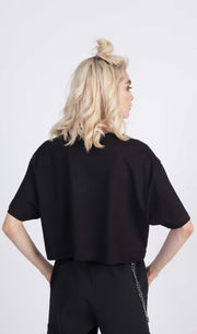 Tricou crop Blk Bling Bling - instinctive.ro