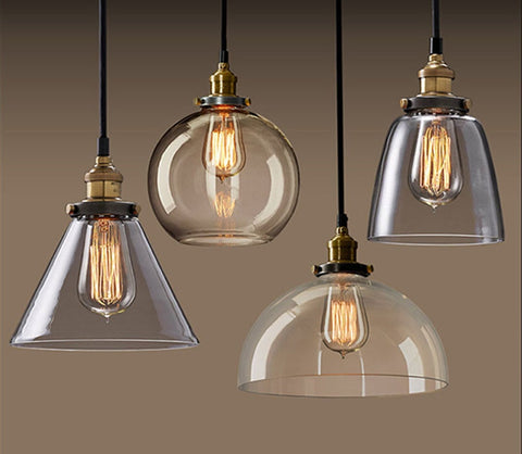 Lampe Vintage - Suspension En Verre