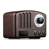 Mini radio portable vintage USB/Bluetooth bois