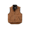 Carhartt mock-neck vest with sherpa lining brown