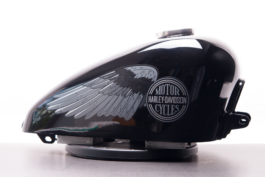 Harley-Davidson WINGS fuel tank decals Shovelhead Gray//Black