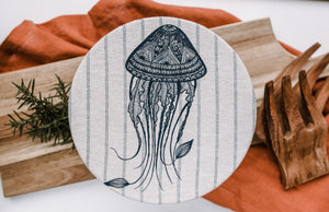Set of 2 Jellyfish and stripes Buy 10 save 15%