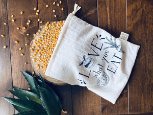 "Med "" Love what you eat"" bulk shopping bag"