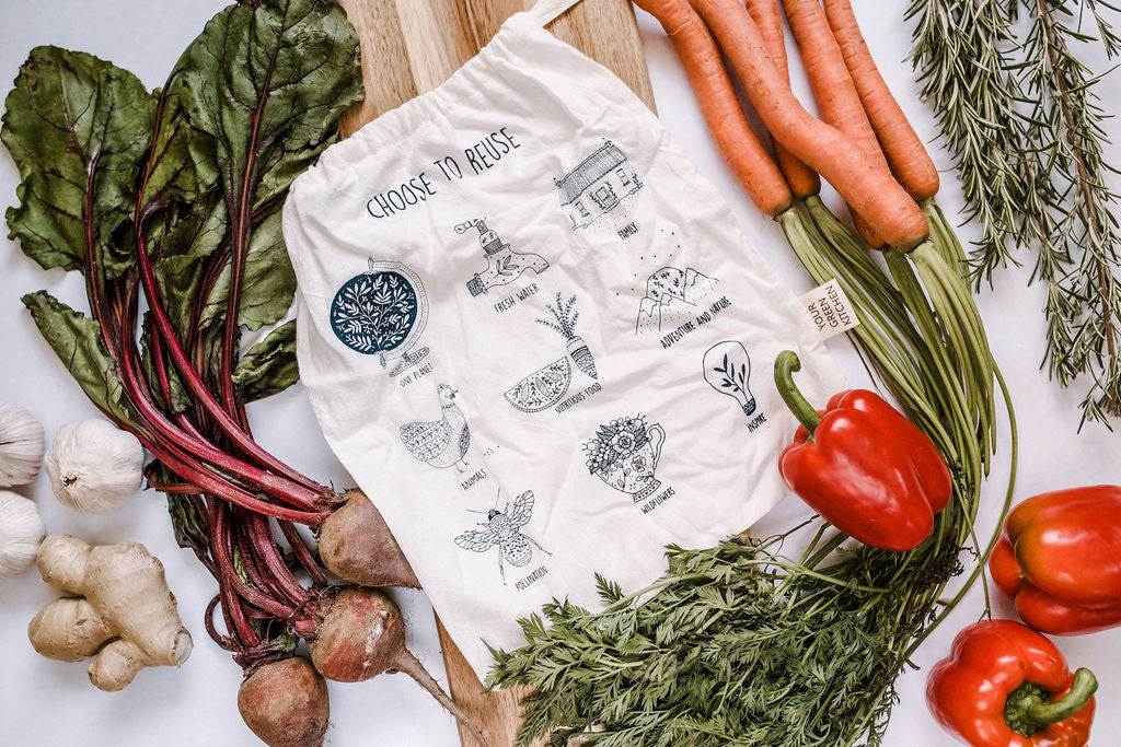 Choose to reuse , reusable produce bag