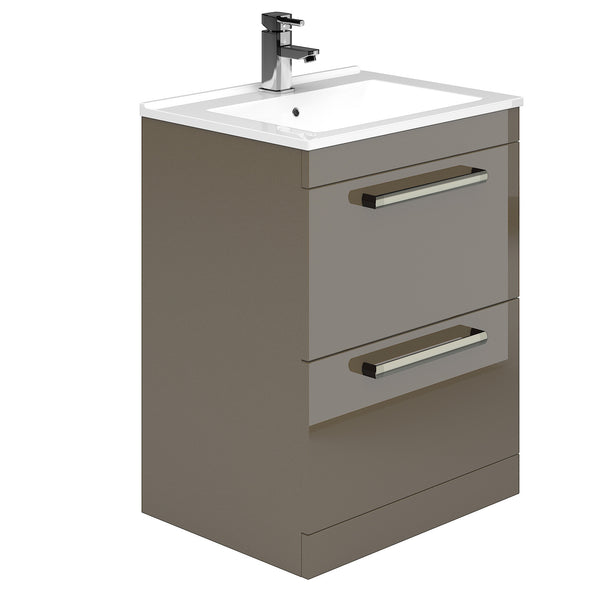 Legato 800mm 2 Drawer Floor Standing Vanity Unit