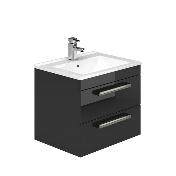 Toscano 600mm 2 Drawer Wall Hung Vanity Unit