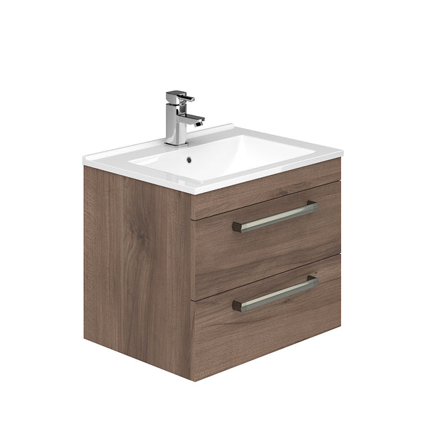 Toscano 800mm 2 Drawer Wall Hung Vanity Unit