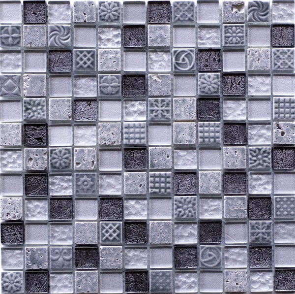 ANCIENT MOSAIC SHEET GREY (2.3*2.3)