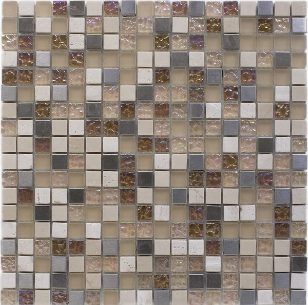 ATHENS TRAVERTINE MOSAIC SHEET (1.5*1.5)
