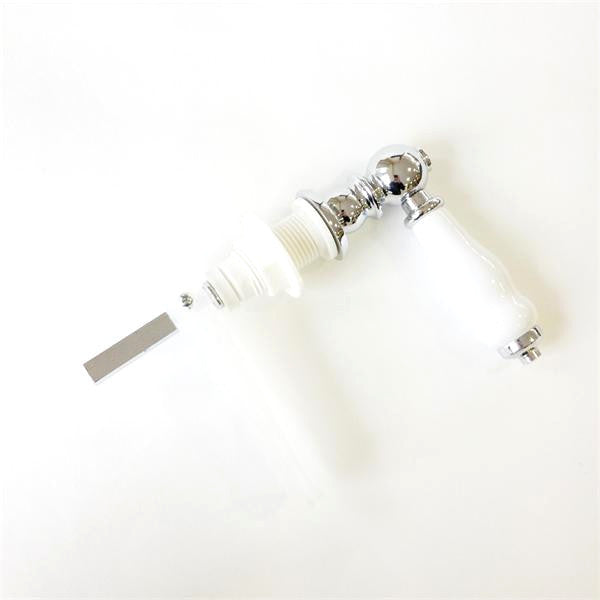 Cistern Lever Chrome/White Ceramic
