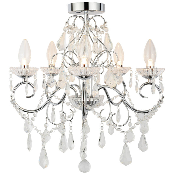 Vela 5 Light Bathroom Chandelier