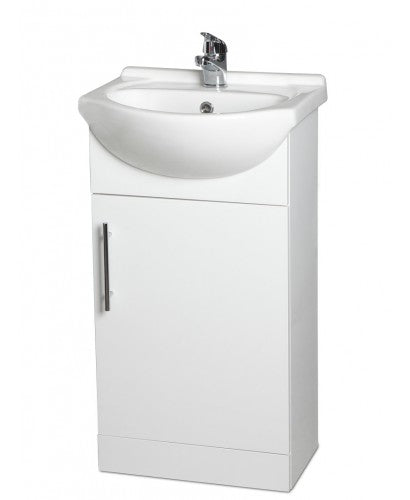 Belmont Gloss White Small Vanity Unit