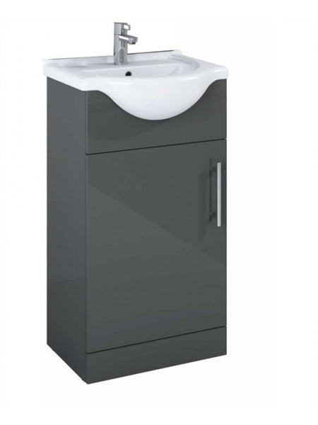 Belmont Gloss Grey Small Vanity Unit