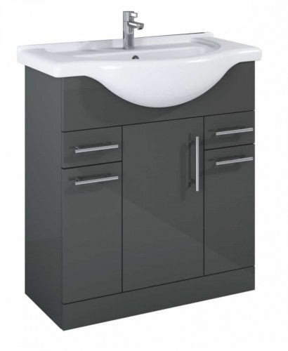 Belmont Gloss Grey Large Vanity Unit