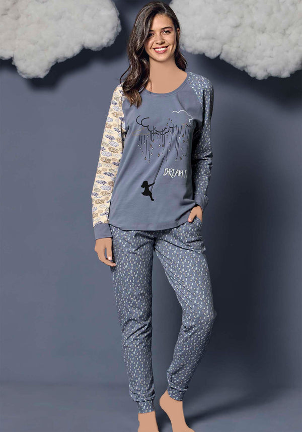 S&L Dream Long Sleeve Pajama - Layla Collection