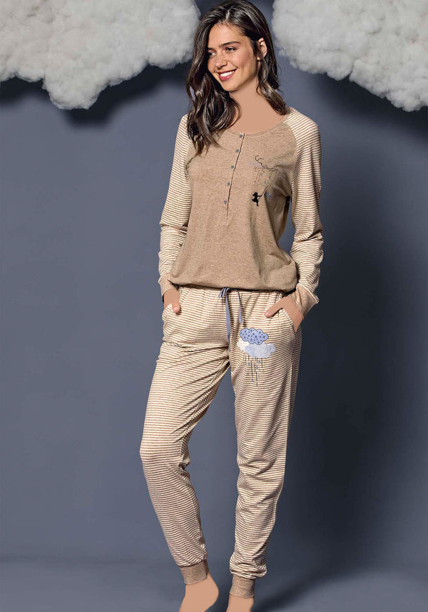 S&L Swing Long Sleeve Pajama - Layla Collection
