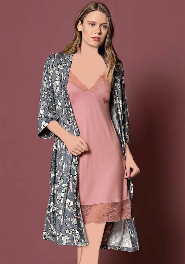 S&L Romantic Robe Set