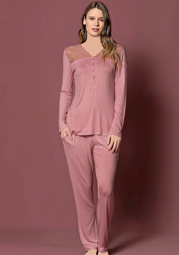 S&L Romantic Long Sleeve Pajama - Layla Collection