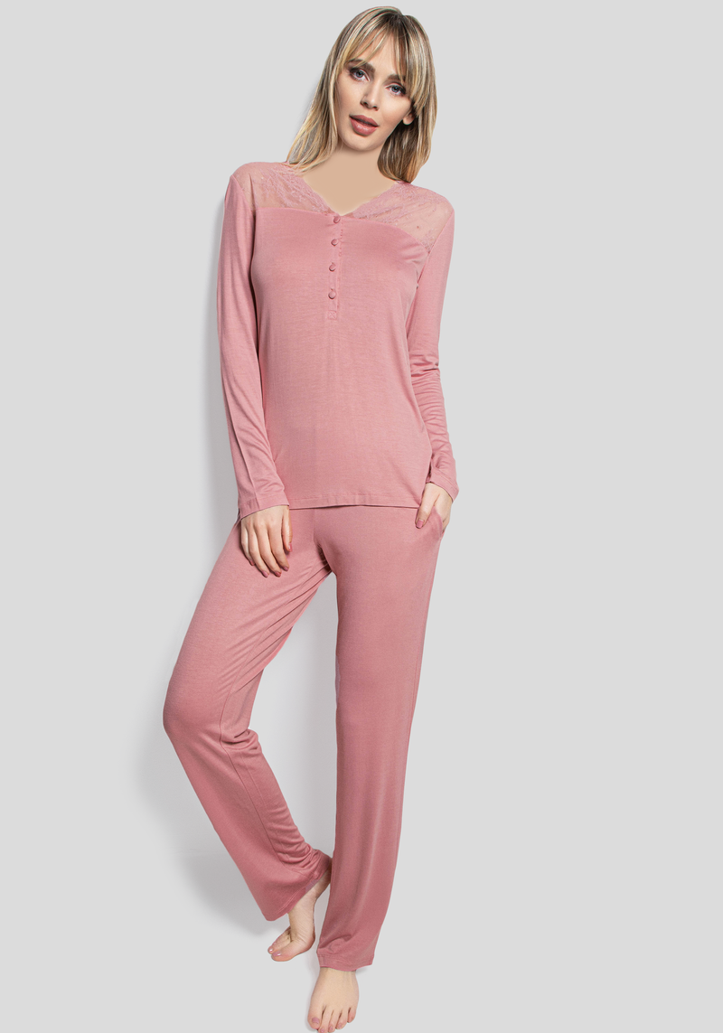 PLUS Romantic Long Sleeve Pajama