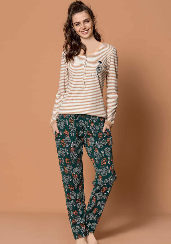 S&L Penguin Long Sleeve Pajama - Layla Collection