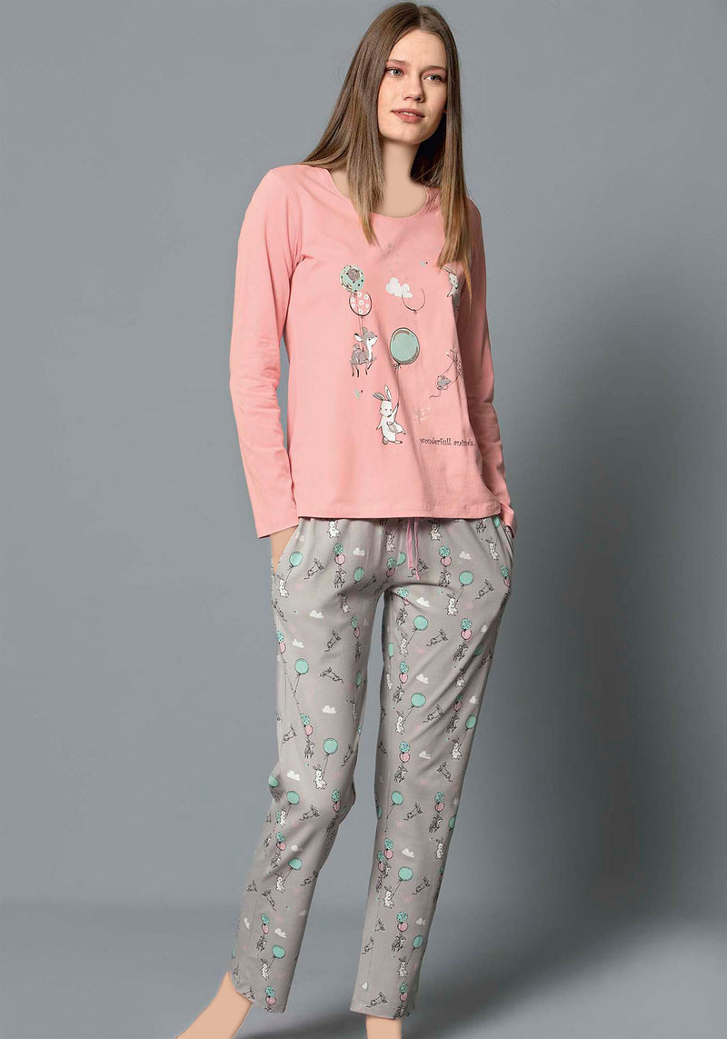 S&L Balloon Long Sleeve Pajama - Layla Collection