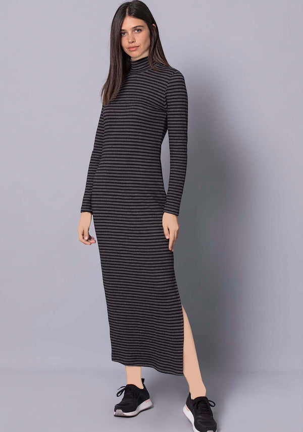 S&L Long Sleeve Long Dress - Layla Collection