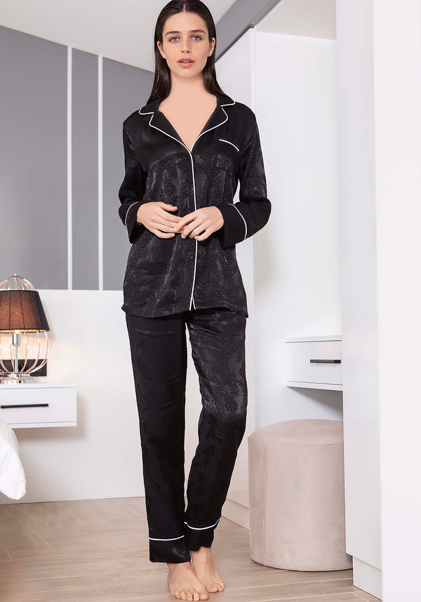 S&L Collar Button Pajama - Layla Collection